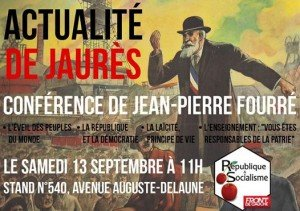 Conference Jaures Fête Humanite 2014