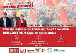 Appel des syndicalistes